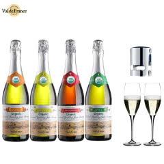 沃迪安无醇无酒精起泡酒法国原瓶进口苹果汁甜型含气果酒750ml*4瓶装