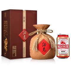 【小程序专享】52°酒鬼原浆酒500ml+科罗斯德式经典拉格啤酒330ml(金罐)