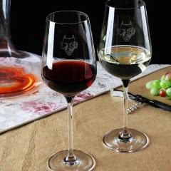 红魔鬼水晶红酒杯双支装