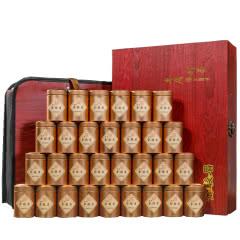 武夷山金骏眉红茶礼盒装茶叶礼盒小罐装正宗蜜香金骏眉新茶  木纹小罐装  500g
